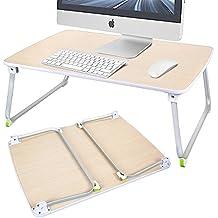zipom soporte para portátil cama escritorio de pie, plegable portátil de mesa, sofá bandeja de desayuno, portátil de calidad soporte, libro soporte de lectura de sofá palabra para PC portátil Notebook 27.6in