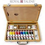 Royal Talens–Van Gogh acrílico Art Juego de Premium–Carcasa de madera con pinturas, Paleta, y pinceles