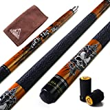 "CUESOUL ROCKIN Series 57"" 21oz Maple Pool Cue Stick Set with Joint Protector/Shaft Protector and Cue Towel(G406)"