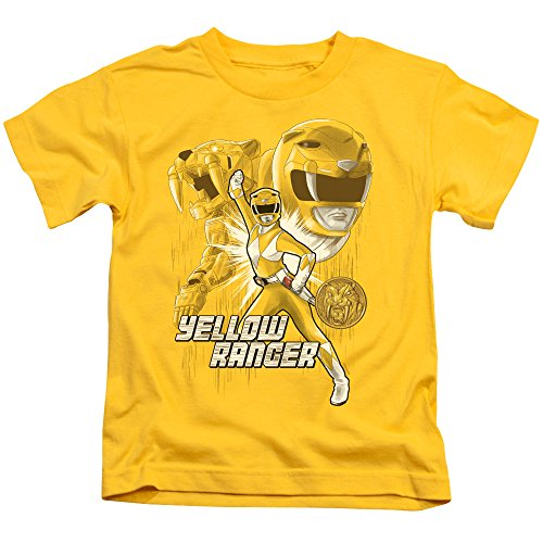 Power Rangers - - Jugendgelb Ranger T-Shirt, Medium (5/6), Yellow (Power Rangers Yellow Ranger Shirt)