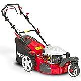 HECHT Benzin-Rasenmäher 5483 SW 3-Rad Rasenmäher (3,7 kW (5,0 PS), Schnittbreite 46 cm, 60 Liter Fangkorbvolumen, 6-fache Schnitthöhenverstellung 25-75 mm, Radantrieb)
