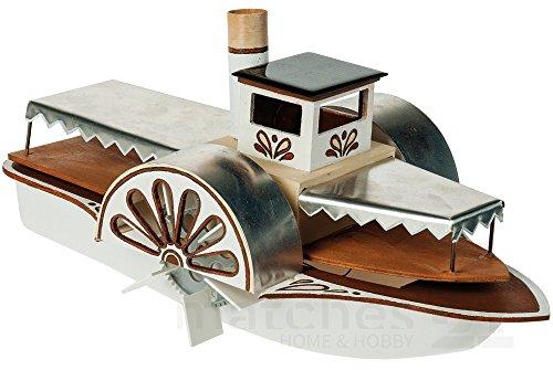 Preisvergleich Produktbild matches21 Raddampfer Schaufelraddampfer mit Solarantrieb / Solar Elektroantrieb als Bausatz Werkset Bastelset für Kinder ab 12 Jahren