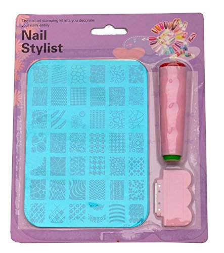 #XY14 Nail Art Stamping Kit Decoration Jumbo Image Plate Gift Girl Woman