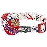 Blueberry Pet Festtagsfreude Bezaubernde Freude Designer Hundehalsband, M, Hals 37cm-50cm, Verstellbare Halsbänder für Hunde