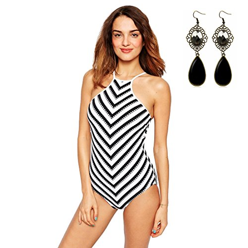 m-queen-womens-one-piece-bikini-sexy-neoprene-tankini-push-up-padded-bathing-suit-striped-swimwear-m