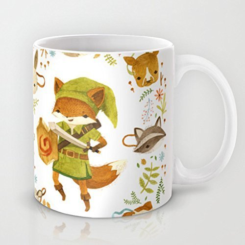 The Legend of Zelda: Mammal's Mask Personalized Mug Classic Ceramic Material Coffee or Tea Cup by Dikouen