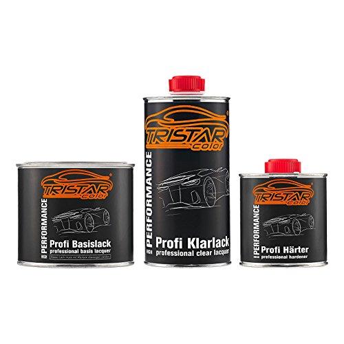 TRISTARcolor Autolack Set Dose spritzfertig für Datsun/Infiniti/Nissan KAC Titaniun Gray Metallic/Bronze Grey Metallic Basislack + 2K Klarlack 1,25L