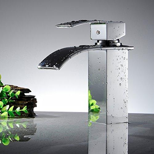 Ancheer Design Einhebel Wasserhahn Waschtischarmatur Wasserfall - 6