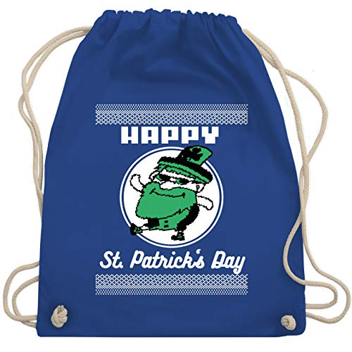St. Patricks Day - Happy St. Patrick's Day Pixel - Unisize - Royalblau - WM110 - Turnbeutel & Gym Bag