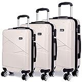 """Kono Sets de Bagages Haute qualité PC/Serrure à Combinaison/4 Roue/Set de 3 Valises 20"""" 24"""" 28"""""""