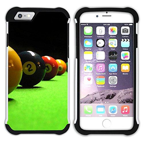 """Graphic4You Billard Billardspiel Kugel """"8 Ball"""" Hart + Weiche Kratzfeste Hülle Case Schale Tasche Schutzhülle für Apple iPhone 6 / 6S Design #7"""