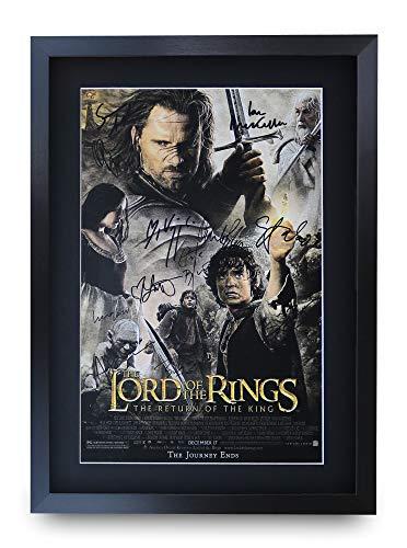 HWC Trading Lord of The Rings The Return of The King A3 Gerahmte Signiert Gedruckt Autogramme Bild Druck-Fotoanzeige Geschenk Für Filmfans - Herr Ringe Der Poster Gerahmte