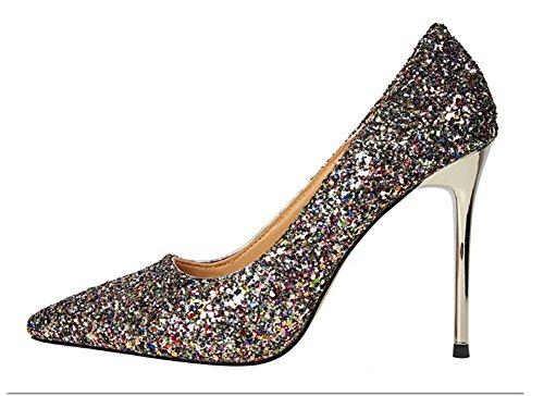 Wealsex Damen high heels Mehrfarbig