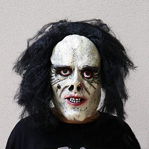 Circlefly Halloween Horror Maske böse Gesicht blutiger Zombie Maske unheimlich beängstigend Perücke rot