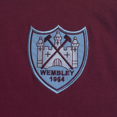 Score Draw Official Retro West Ham United Mens 1964 FA Cup Final shirt -  X-Large, Claret And Sky