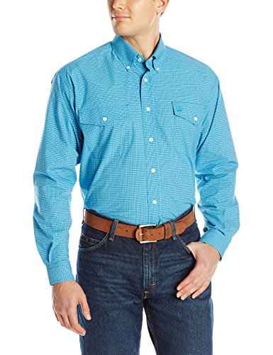 Klassische Klappe Tasche Jeans (Cinch Herren Plaid mit 2 Klappen, klassischer Passform - Türkis - X-Groß)