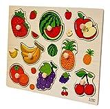 #8: Toyshine Wooden Puzzle Toy, Educational and Learning Toy - Fruit