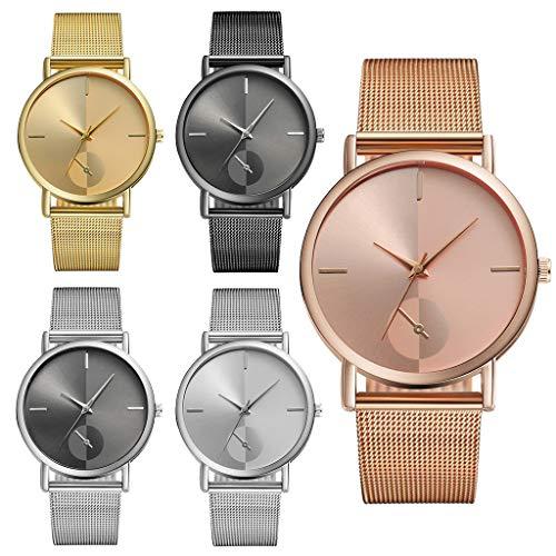 Mymyguoe Reloj de Pulsera Hombre analogico Reloj Mujer Relojes Hombre Unisex Reloj de Pulsera Reloj Mujer Moda Reloj analogico Reloj de Dama