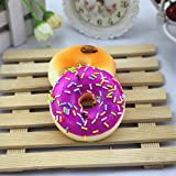 LEvifun Jumbo Squishies Toy Fun Kawaii Colourful Doughnut Slow Rising Scented Squishies Charms Cute Squeeze Toy Gift for Kids Adult Lovely Toy (Colourful Doughnut, Toy)