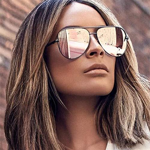 LAMAMAG Sonnenbrille Gun Pink Sonnenbrille Silber Spiegel Metall Sonnenbrille Pilot Sonnenbrille Damen Herren Sonnenbrillen Lünette, 7