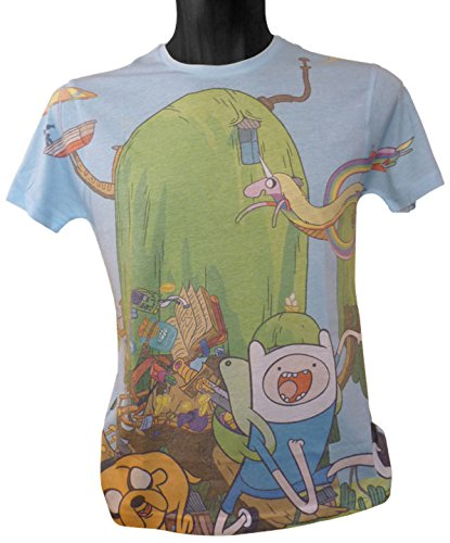 Adventure Time Finn und Jake 's Treehouse Sublimation Print T-Shirt (Kostüm Time Adventure Marceline)