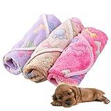 Alfombrilla tipo manta Zhuotop, impermeable, resistente a las manchas, para mascotas, con patrón de huellas