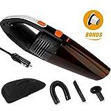 Aspirateurs à main, Aspirateur de voiture Portable, Aspirateurs eau et poussière Puissance 120W Utile, surlongueur câble de 4.5m Nettoyeur Complet Avec Poche de Stockage (Noir)