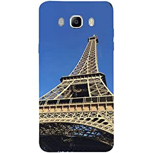 Casotec Eiffel Tower Design 3D Printed Hard Back Case Cover for Samsung Galaxy J7 (2016)