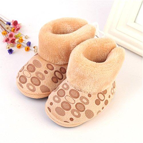 Zhuhaitf Ausgezeichnet Toddler Soft Sole Shoes Baby Girls Boys Warm Cotton Snow Boots Khaki