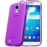 Juppa® Samsung Galaxy S4 GT-i9500 TPU Silikon Tasche Hülle Schutzhülle mit LCD displayschutzfolie - Lila (Bitte beachten Sie diesen Artikel ist nicht für Samsung S4 Mini)