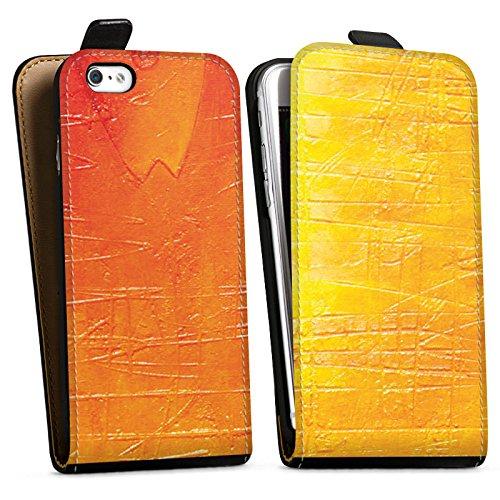 Apple iPhone X Silikon Hülle Case Schutzhülle Kratzer Struktur Malerei Downflip Tasche schwarz