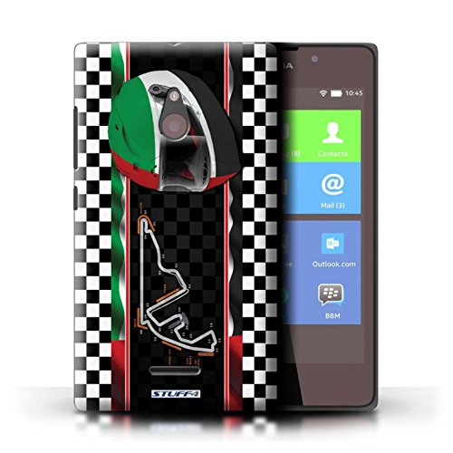 Kobalt® Imprimé Etui / Coque pour Nokia XL / Malaisie conception / Série F1 Piste Drapeau AbuDhabi
