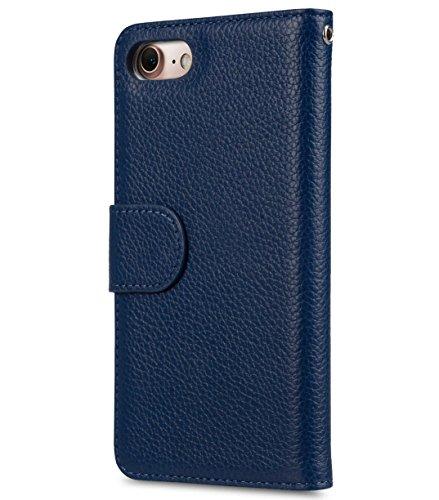 Apple Iphone 7 Melkco Elite-Serie Premium Leder-Snap zurück Tasche Tasche mit Premium-Leder Handgefertigte gute Schutz, Premium Feel-Tan Dark Blue LC 6