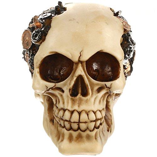 Harz Skelett Menschlichen Schädel Requisiten Kunst Büro Bar Fotograf Allerheiligen (Farbe 2) (Beste Halloween Requisiten)