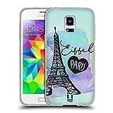 Head Case Designs Eiffel Ich Träume Von Paris Soft Gel Hülle für Samsung Galaxy S5 Mini