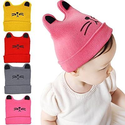 4 Pcs bebé gatito niño sombrero lindo gatito casquillo infantil de punto beanie caliente invierno PAC