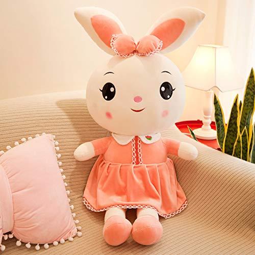 ahzha Super-grüne Kleine Weiße Kaninchen Puppe Große Liebe Kaninchen Prinzessin Kaninchen Plüsch Spielzeug Mädchen Geburtstagsgeschenk 45cm Rosa süße Kaninchen (Robbe Puppe)