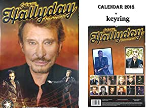 johnny hallyday calendrier 2018 johnny hallyday porte cl fournitures de bureau. Black Bedroom Furniture Sets. Home Design Ideas