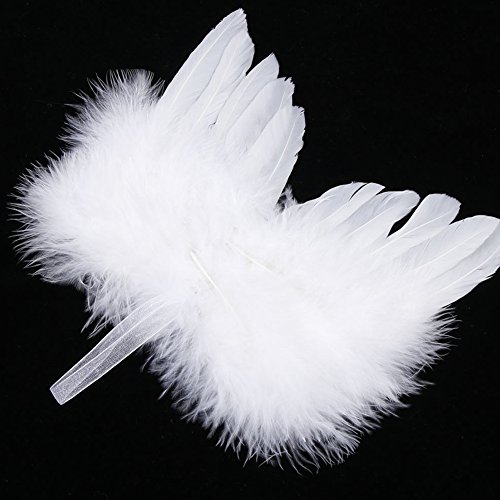 Feder Engel Flügel, ainstsk Baby Newborn Kids Foto Requisiten Angel weiß FEATHER Wing Weihnachtsbaum Dekoration Zum Aufhängen Ornament Hochzeit