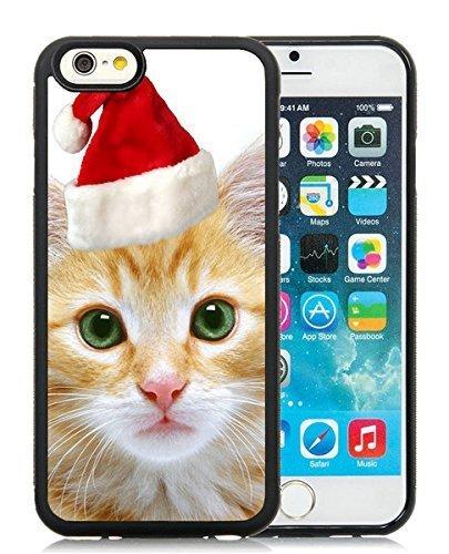 Best Buy iPhone 6 Case,Christmas Cat Black iPhone 6 4.7 Inch TPU Case 4
