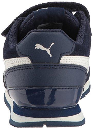 PUMA Unisex ST Runner SD Velcro Kids Sneaker  Peacoat-Whisper White  2 5 M US Little