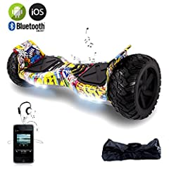 Idea Regalo - EVERCROSS Hoverboard Challenger Basic Monopattino Elettrico Autobilanciato, Balance Scooter Skateboard, con Due ruote 8.5 in, Bluetooth, APP e LED,Inclusa Batteria e Borsa,15Km/H (Hip-Hop)