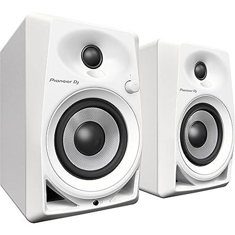 Pioneer DM-40-W Blanc haut-parleur - hauts-parleurs (DJ, 2-voies, Dessus de table/étagère à livres, Intégré, 1,91 cm (0.75
