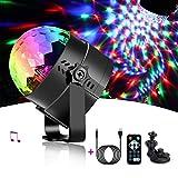 LED Discokugel NAKALUS Partybeleuchtung Partylicht Musikgesteuert Disco Lichteffekte Discolicht mit USB Kabel,7 Farbe RGB