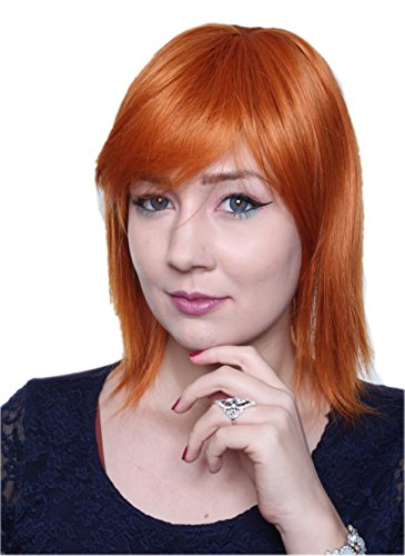 Cosplayland C352 - 35cm One Piece Nami rot orange Theater hitzefest (Perücken Orange)