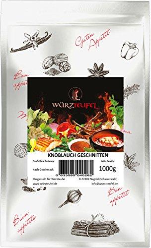 Knoblauch granuliert, Gewürz - Knoblauch fein gewürfelt, Premiumqualität aus Indien. Beutel 1000g. (1KG)