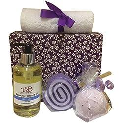 Relajante Regalo Set con Aceite De Masaje, Lavanda Baño Bomba y lavanda Jabón Ideal para Día De La Madre
