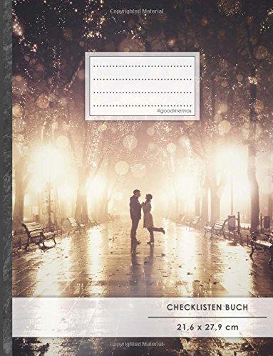 """Checklisten-Buch: DIN A4 • 70+ Seiten, Softcover, Register, \""""Romantisch\"""" • #GoodMemos • 18 Checkboxen + Platz für Notizen/Seite (inkl. Register mit Datum uvm.)"""