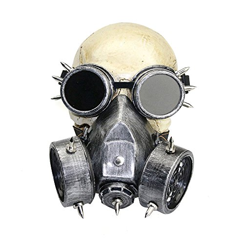 KEHUASHINA Female/männlich Goggles Military Fog Haze Steampunk Gas Maske Party Halloween Anime Cosplay Zubehör