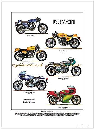 Ducati Kunstdruck–klassische Motorräder, Nachkriegszeit-Modelle